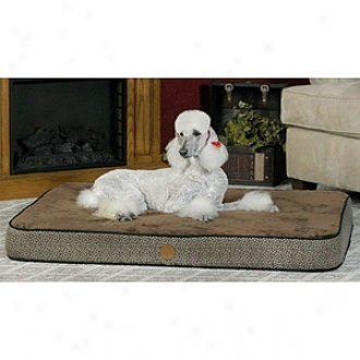 K & H Manufacturing Orthopedic Bed Superior Medium Mocha Paw Bone 30 X 40