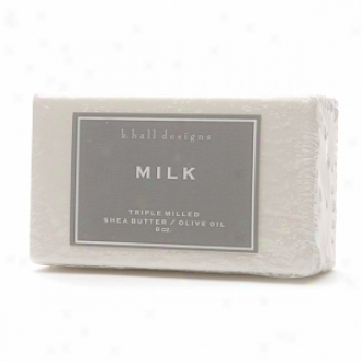 K. Hall Designs Shea Butter/olive Oil Triple Milled Bar Soap, Milk