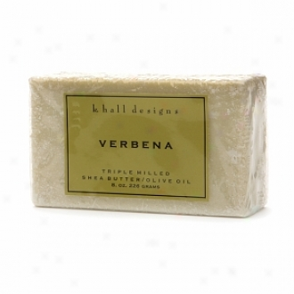 K. Hall Designs Shea Butter/olive Oil Triple Milled Bar Soap, Verbena