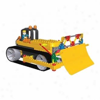 K'nex Construction Crew Seeies #2 Bulldozer, Giant Excavator, Dump Truck Ages 5+