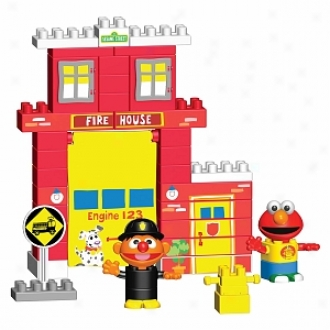 K'nex Neighborhood Collection - Fire House School House Building Set Asst. Ages 2+