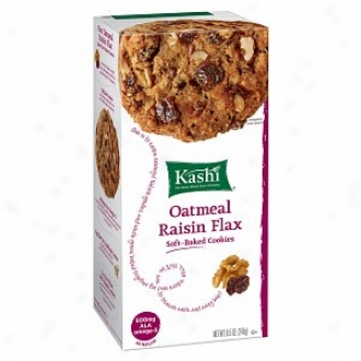 Kashi All Fool Soft Baked Cookies, Oatmeal Raisin Flax