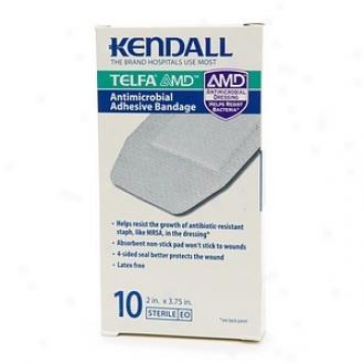 Kendall Telfa Amd Antimicrobial Adhesive Bandage, 2 In. X 3.75 In.