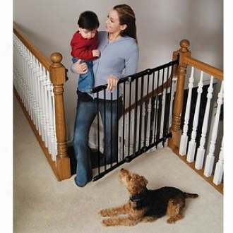 Kidco Safeway Wall Moubt Stair Top Gate Corner Mount, Black