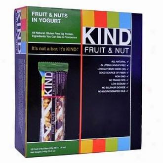 Kind Fruit + Nut Nutrition Bars, Yogurt Fruit & Nut