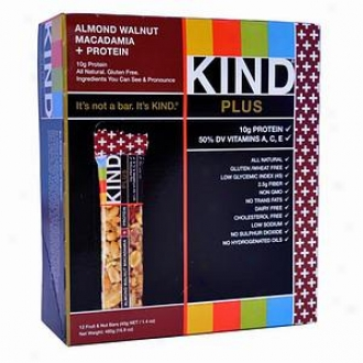 Kind Plus Nutrition Bars, Almond, Walnut & Macadamia + Protein