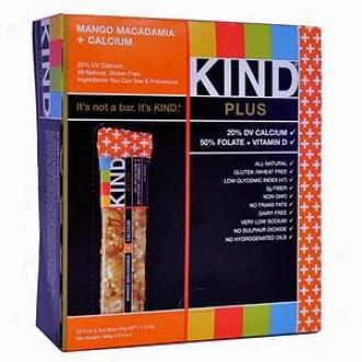 Kind Plus Nutrition Bars, Mango Macadamia + Calcium