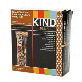 Kind Plus Nutrition Bars, Peanut Butter Dark Chocolate + Protein