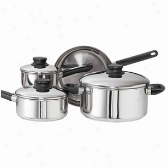 Kinetic Cookware Set 7 Piece 1qt, 2qt Saucepans, 5.5qt Covered Dutch Oven, 10inch Frypan