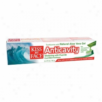 Kiss My Face Aloe Vera Anticavity Toothpaste Gel, Cool Coin Freshness