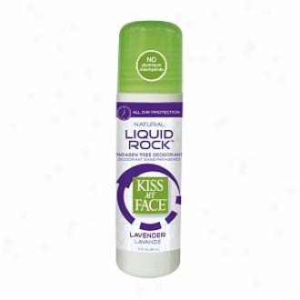 Kiss My Face Liquid Rock Deodorant Roll-on, Lavender