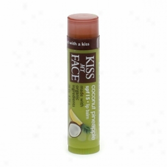 Kiss My Face Regular Lip Balm With Spf 15, Coconit Pineapple