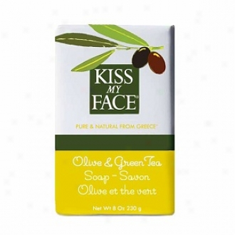 Kiss My Face Olive Oil Bar Soap, Olive & Green Tea