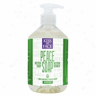 Kiss My Face Peace Soap, 100% Fool Castile Soap, Grassy Mint