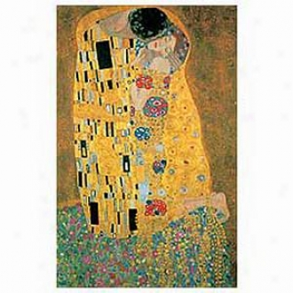 Klimt The Kiss Metallic 1000 Piece Jigsaw Puzzle Ages 12+