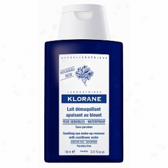 Klorane Soothing Eye Make-up Remover Wiyh Cornflower Extract, Waterproof-sensitive Eyes