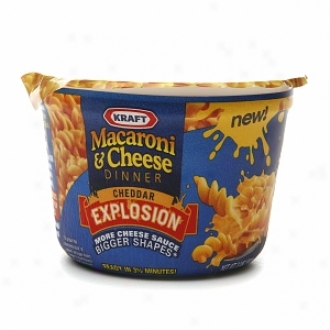 Kraft Macaroni & Cheese Dinner (10 Single Serve Cups), Cheddar Explosion