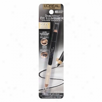L'oreal Double Expand Eye Illuminator Eye Liner, Blacck Crystal (all Eyes)