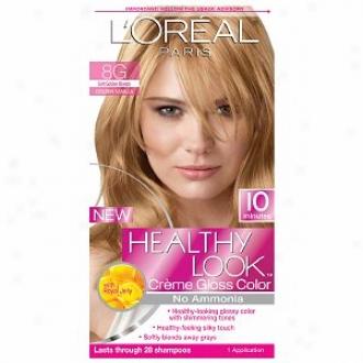 L'oreal Healthy Look Creme Gloss Distort, Gently Auspicious Blonde Golden Vanilla 8g