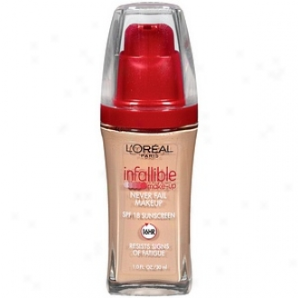 L'oreal Infallible Advancsd Never Fail Makeup Spf 20, Creamy Essential 607