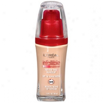 L'oreal Certain Advanced Never Fail Makeeup Spf 20, Original Buff 606
