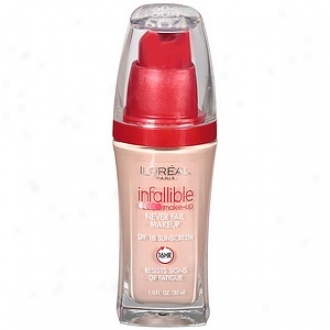 L'oreal Infallible Advanced Never Fail Makeup Spf 20, Natural Iviry 604