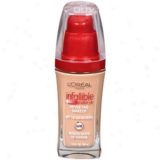 L'oreal Infallible Advanced Never Fail Makeup Spf 20, Natural Beige 608