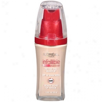 L'oreal Infallible Advanced Never Fail Makeup Spf 20, Soft Ivory 602