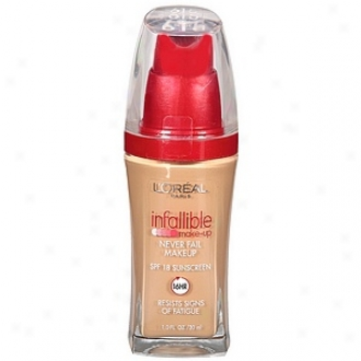 L'oreal Infallible Advanced Never Fail Makeup Spf 20, Sun Beige 615