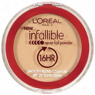L'oreal Infallible Never Fail Powder 16 Hr Spf 20 Sunscreen,C reamy Natural 664