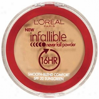 L'oreal Infallible Never Fail Powder 16 Hr Spf 20 Sunscreen, Sun Beige 674