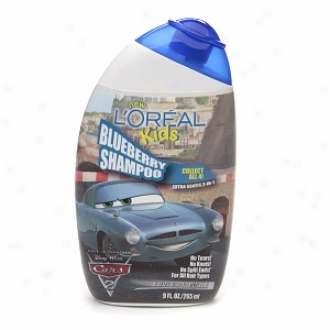 L'oreal Kids Cars 2 Extra Gentle 2-in-1 Shampoo, Blueberry (finn Mcmissile)