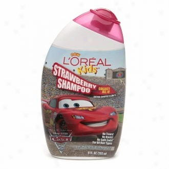 L'oreal Kids Cars 2 Extra Gentle 2-in-1 Shampoo, Strawberry (lightning Mcqueen)
