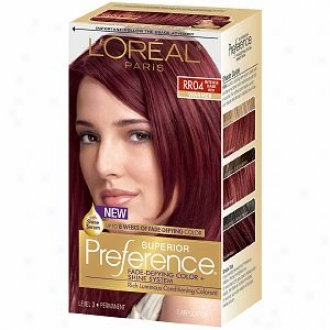 L'oreal Choice Vanish De fying Color & Shine System, Permanent, Intense Dark Red Rr-04