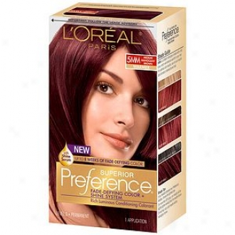 L'oreal Preference Fade Defying Tinge & Shine System, Permanent, Medium Mahogany Brown 5mm