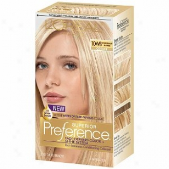 L'oreal Preference Lose color Defying Color & Shine Syst3m, Permanent, Whispersoft Blonde 10wb