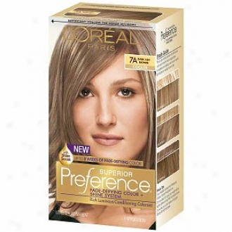 L'oreal Preference Fade Defying Color & Shine System, Permanent, Daro Ash Blonde 7a