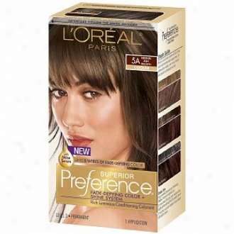 L'oreal Preference Fade Defying Color & Shine System, Permanent, Mean Ash Brown 5a