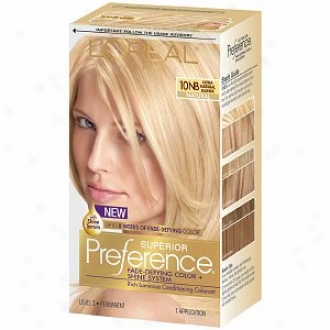 L'oreal Preference Fade Defying Color & Shine System, Permanent, Ultra Natural Blonde 10nb