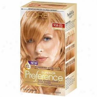 L'oreal Preference Fade Defying Color & Shine Syztem, Permanent, Lt Golden Reddish Blonde 9gr