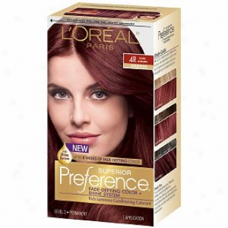 L'oreal Preference Fade Defying Color & Shine System, Permanent, Dark Auburn 4r