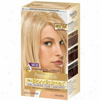 L'oreal Preference Les Blondissimes Haircolor, Extra Light Natural Blonde Lb02