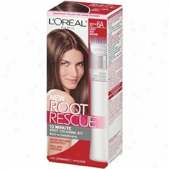 L'oreal Root Rescue 10 Minute Root Coloring Kit, Light Ash Brown 6a