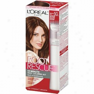L'oreal Root Rescue 10 Sixtieth part of an hour Root Coloring Kit, Medium Golden Brown 5g