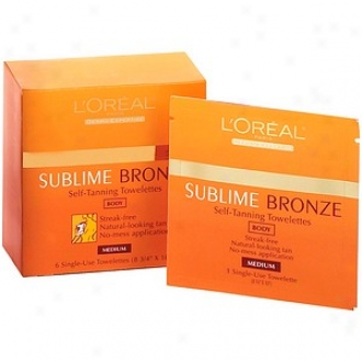 L'oreal Sublime Bronze Self-tanning, Towelettes, Medium