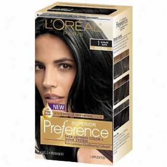L'oreal Superior Preference Fade Defying Color & Shine System, Ultimate Black 1