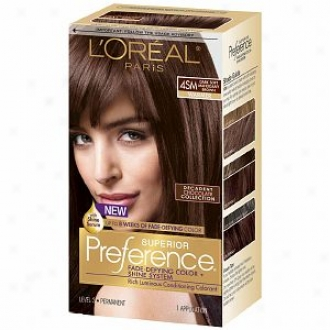 L'oreal Superior Preference Fade Defying Color & Shine System, Dark Soft Mahogany Brown 4sm