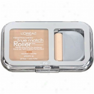 L'oreal True Match Roller Perfecting Roll On Makeup Spf 25, Natural Buff N3