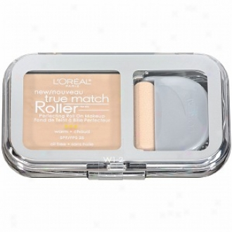 L'oreal True Match Roller Perfecting oRll Forward Makeup Spf 25, Porceiain/light Ivory W1-2
