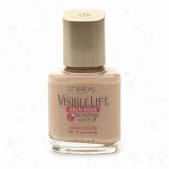 L'oreal Viaible Lift Line Minimizing Makeup Spf 17, Serum Inside, Buff 110, Buff